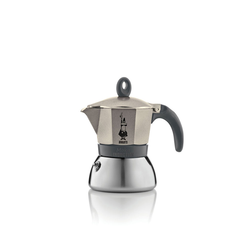 Bialetti moka induction light gold 3 tz centrale del caff for Piani di combo per l house shop